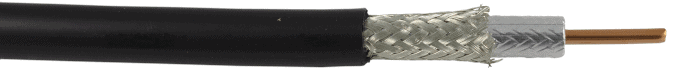 Low loss L400 coaxial cable